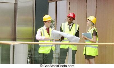 projet, construction, étudier, architectes