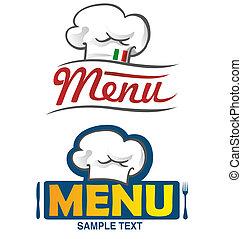 projet, menu, 2