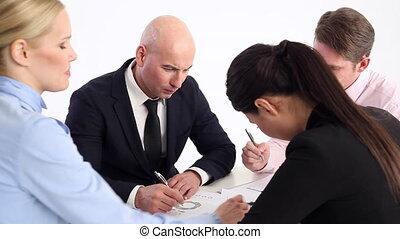 projet, travail, ensemble, business