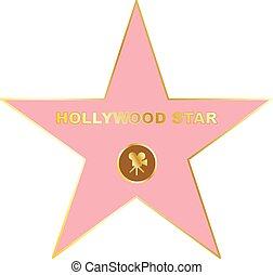 promenade, étoile, renommée, icône