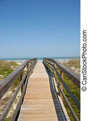 promenade, plage