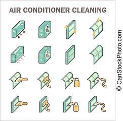 propre, conditionnement, air
