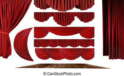 propre, théâtre, créer, éléments, fond, ton, étape