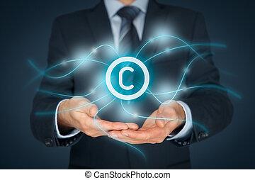 propriété, intellectuel, protection copyright