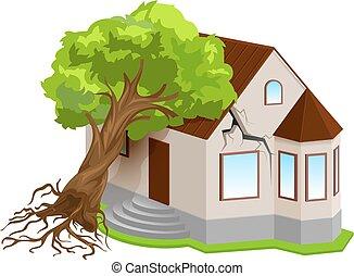 propriété, naturel, assurance, contre, désastres