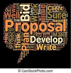 propsal, gagner, texte, fond, vous, ton, plan, concept, wordcloud