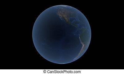 prores, planète, fond, 4k, la terre, alpha, tourne, transparent