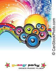 prospectus, musique, coloré, fond