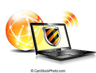 protection, antiviru, bouclier, internet