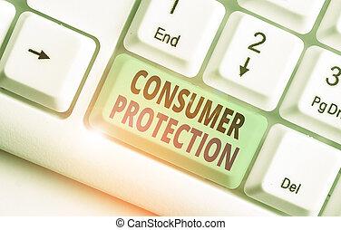 protection., consumers., écriture, concept, mot, business, protéger, règlement, but, consommateur, droits, texte