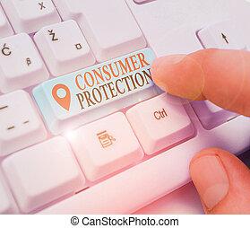 protection., consumers., projection, protéger, photo, signe, règlement, consommateur, but, droits, conceptuel, texte
