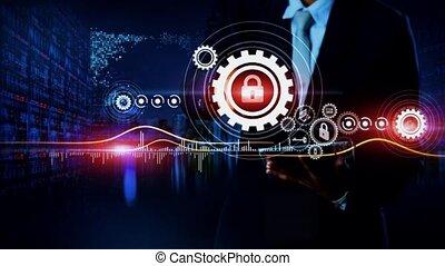 protection, données, concept
