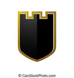 protection, emblème, 3d, assurer, vide, résumé, logo, bouclier, symbole