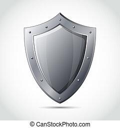 protection, emblème, bouclier, business, vide