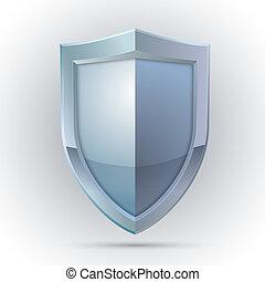 protection, emblème, bouclier, vide