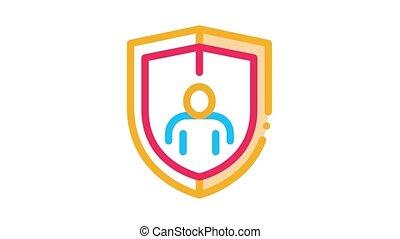 protection, immunity, animation, icône
