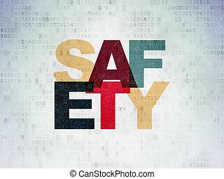 protection, papier, sécurité, fond, numérique, données, concept: