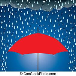 protection, parapluie, pluie, grêle