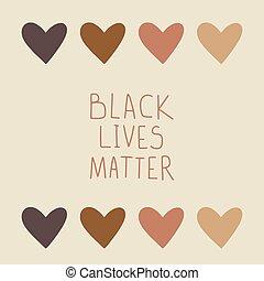 protestation, bannière, noir, vies, matter.
