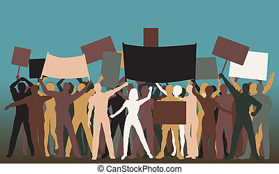 protestation, groupe