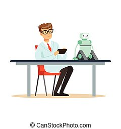 prototype, essais, scientifique, robot, ingénieur