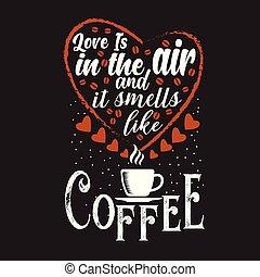 proverbe, café, bon, citation, conception, impression