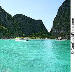 province, île, exotique, recours, krabi, thaïlande, phi-phi