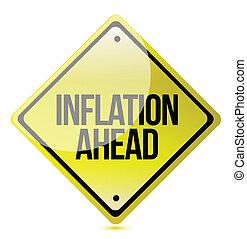 prudence, inflation, -, devant