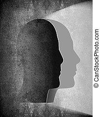 psychologie, fond, résumé