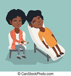 psychologue, patient, séance, avoir, africaine