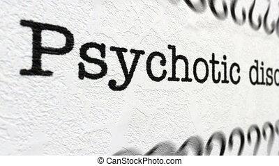 psychotic, désordre