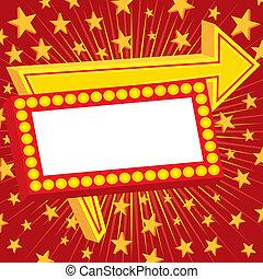 publicité, étoiles, signe
