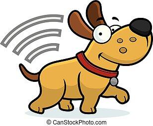 puce, dessin animé, chien
