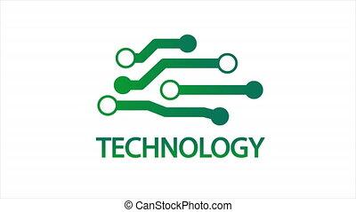 puce, logo, technologie