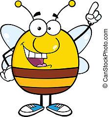 pudgy, doigt indique, abeille