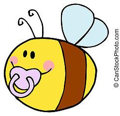 pudgy, pacifier bébé, abeille