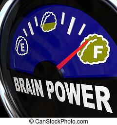 puissance, intelligence, mesures, créativité, cerveau, jauge