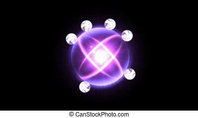 puissance, la, énergie, champ, électron, technologie