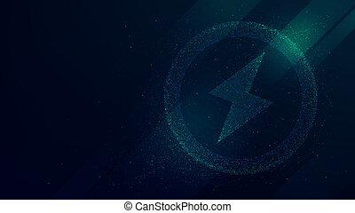 puissance, signe, résumé, vecteur, fond, avenir, technologie, énergie
