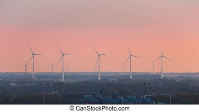 puissance, turbines, vent