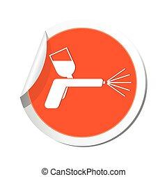 pulvérisation, icon., illustration, fusil, vecteur
