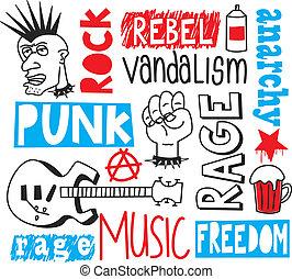 punk, griffonnage