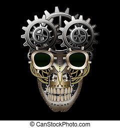 punk, vapeur, crâne