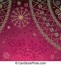 purple-gold, noël, cadre