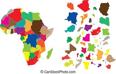 puzzle, afrique, continent