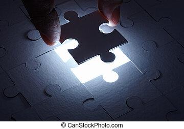 puzzle, collaboration, jeu, solution