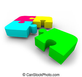 puzzle, -, compléter