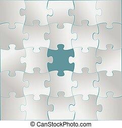 puzzle, conception, gris, illustration
