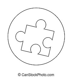 puzzle, conception, illustration, icône