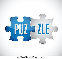 puzzle, conception, illustration